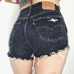 Levi's 501 Vintage Cut Off Shorts in Faded Black